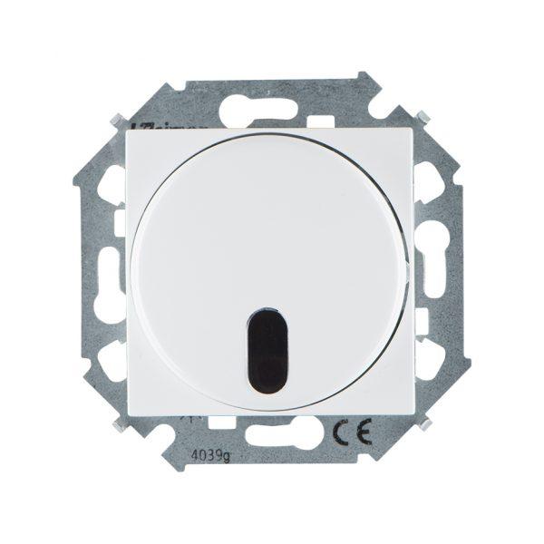 Светорегулятор с управлением от ИК пульта, проходной, 500Вт, 230В, винтовой зажим, белый Simon 1591713-030 1