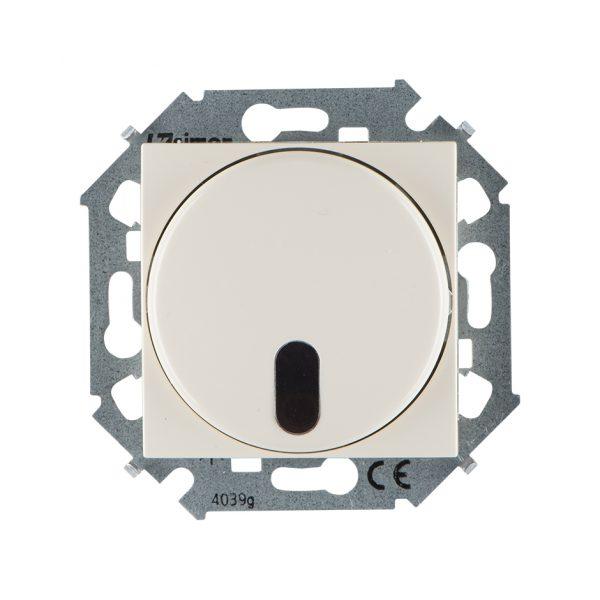 Светорегулятор с управлением от ИК пульта, проходной, 500Вт, 230В, винтовой зажим, слоновая кость Simon 1591713-031 1