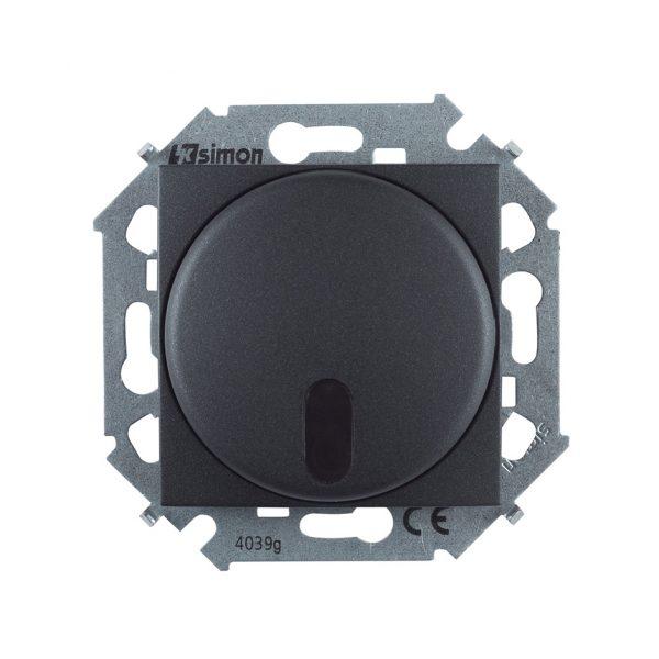 Светорегулятор с управлением от ИК пульта, проходной, 500Вт, 230В, винтовой зажим, графит Simon 1591713-038 1
