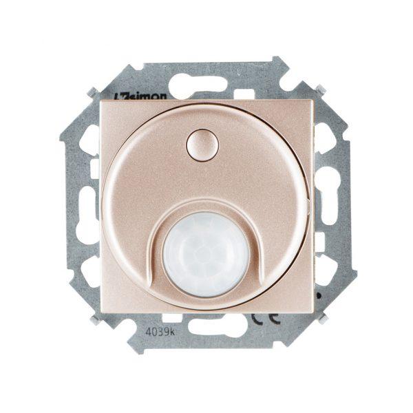 Выключатель с датчиком движения 500 Вт, 230 В, винтовой зажим, шампань Simon 1591721-034 1