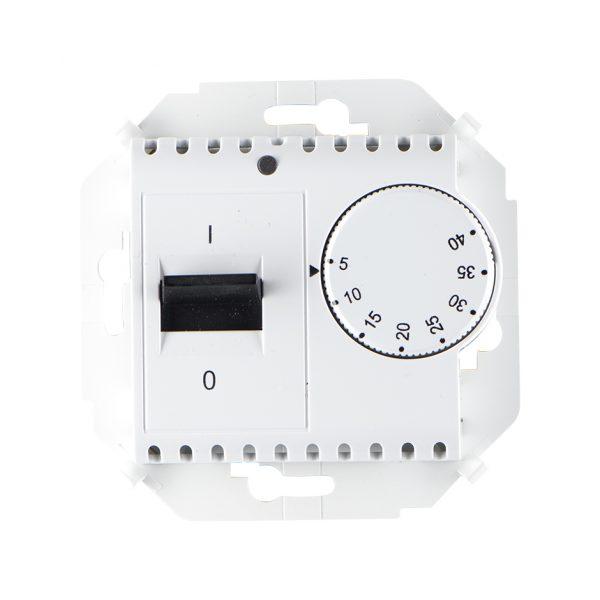 Регулятор для тёплого пола, с зондом, 16А, 230В, 3600Вт, 5-40град, IP20, белый Simon 1591775-030 1