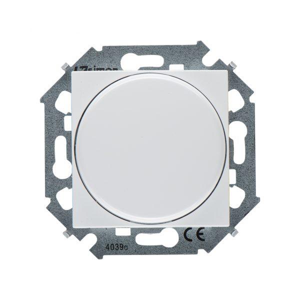 Регулятор напряжения поворотно-нажимной электронный, переключатель, 500Вт 230В, винтовой зажим, белы Simon 1591790-030 1