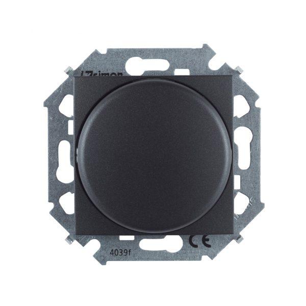 Регулятор напряжения поворотный для светодиодных регулируемых ламп 230В, 5-215Вт, винтовой зажим, гр Simon 1591796-038 1