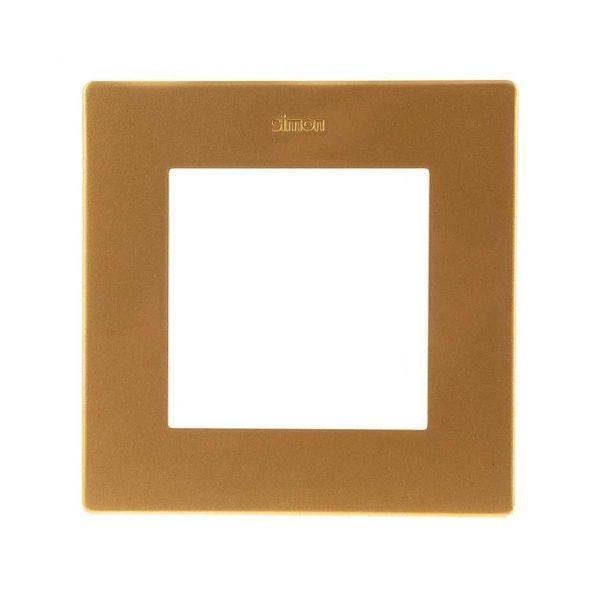 Рамка 1 пост, золото Simon 2400610-066 1