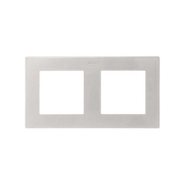 Рамка 2 поста, алюминий Simon 2400620-033 1