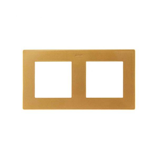 Рамка 2 поста, золото Simon 2400620-066 1