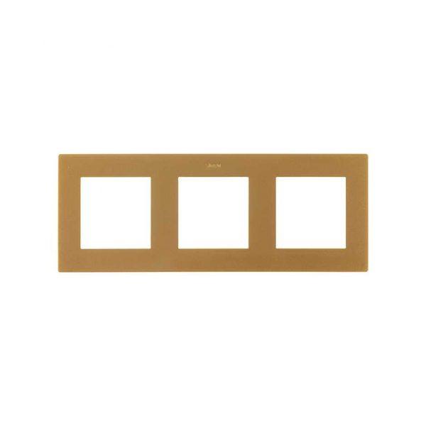 Рамка 3 поста, золото Simon 2400630-066 1