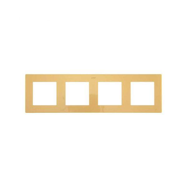 Рамка 4 поста, золото Simon 2400640-066 1