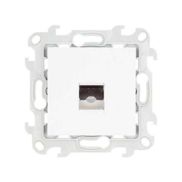 Телеф розетка RJ11, бел Simon 2410480-030 1