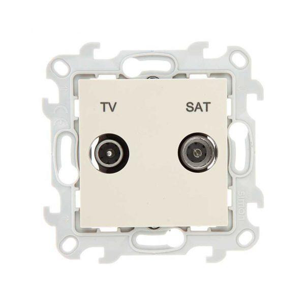 Розетка TV-SAT проходная, сл кость Simon 2410485-031 1