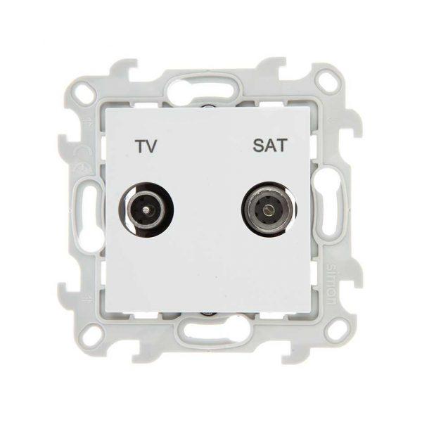 Розетка TV-SAT оконечная, бел Simon 2410486-030 1