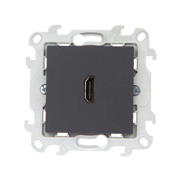 Коннектор HDMI 1.4, графит Simon 2411094-038 1