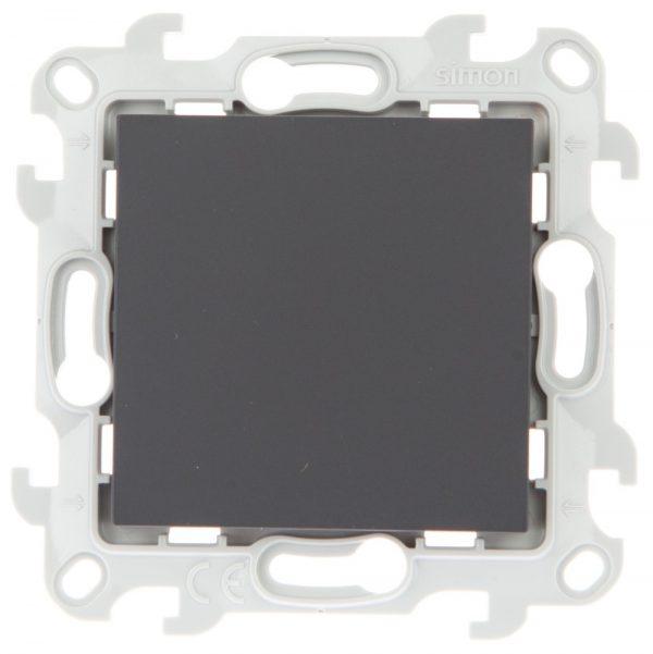 Кнопочный выключатель, графит Simon 2450150-038 1