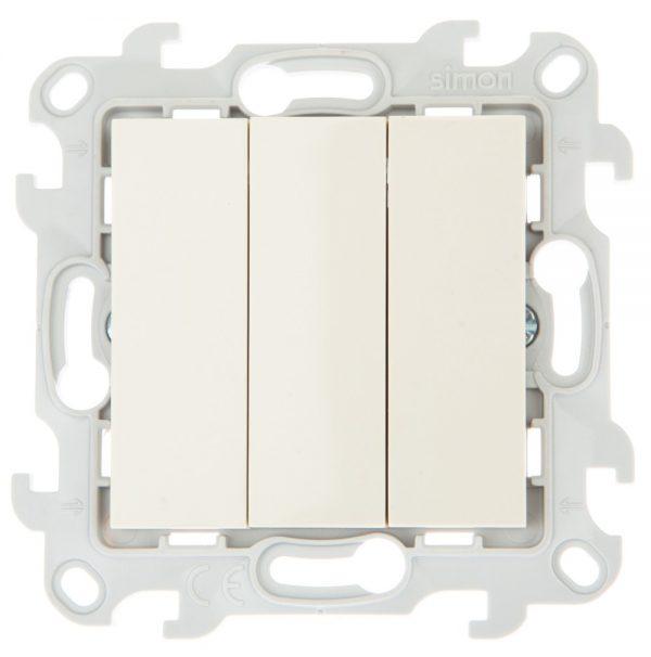 Трехклавишный выключатель, сл кость Simon 2450391-031 1