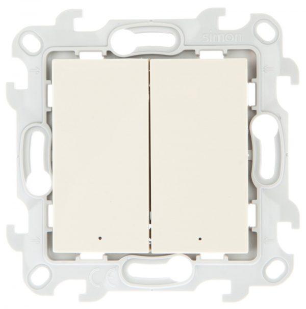 Двухклавишный выкл с подвсеткой, сл кость Simon 2450392-031 1