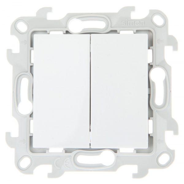 Двухклавишный выключатель, бел Simon 2450398-030 1