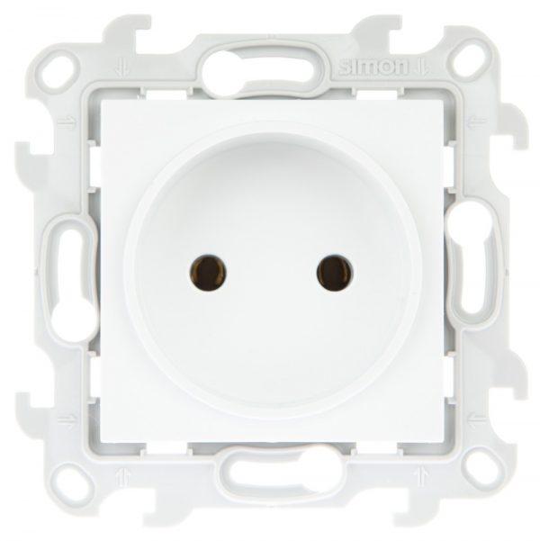 Розетка 2К без защ штор, бел Simon 2450442-030 1