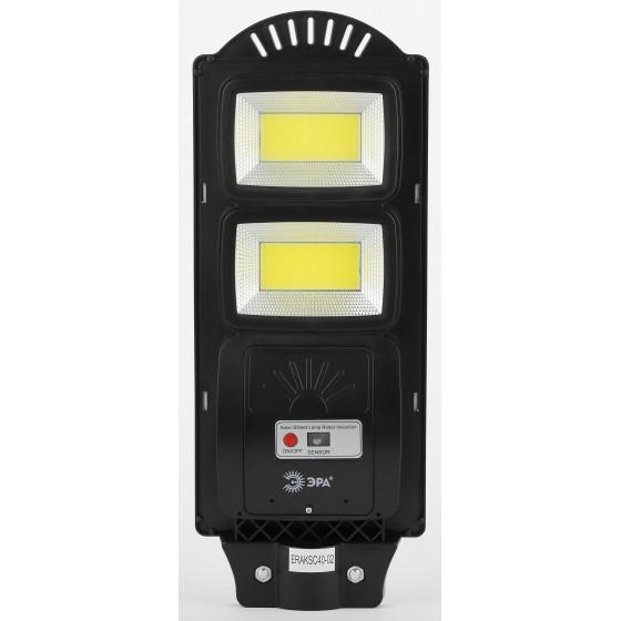 ЭРА Консольный светильник на солн. бат.,COB,с кронштейном,40W,с датч.движ., ПДУ,750lm, 5000К, IP66 ( 2