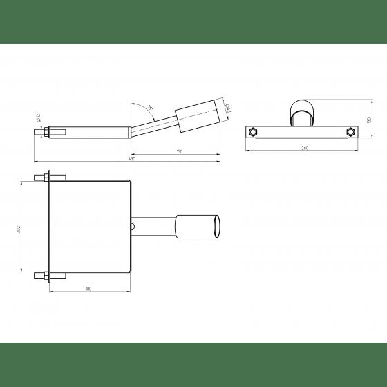 SPP-AC6-0-150-048 ЭРА Кронштейн на столб 430*260*130, d 48mm 2