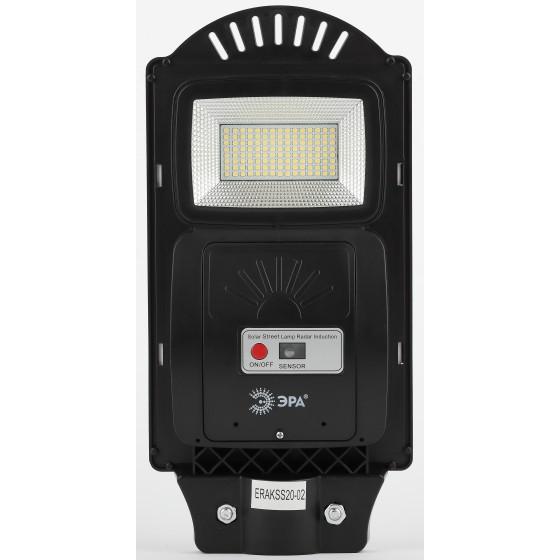 ЭРА Консольный светильник на солн. бат.,SMD,с кронштейном,20W, с датч. движ.,ПДУ,400lm, 5000К, IP65 2