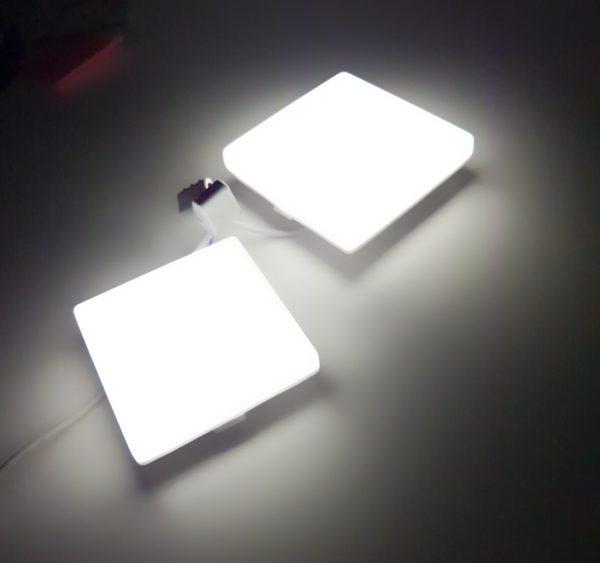 Светильники LED с регулируемым креплением квадратные встраиваемые серии MOON, 10-15Вт 2