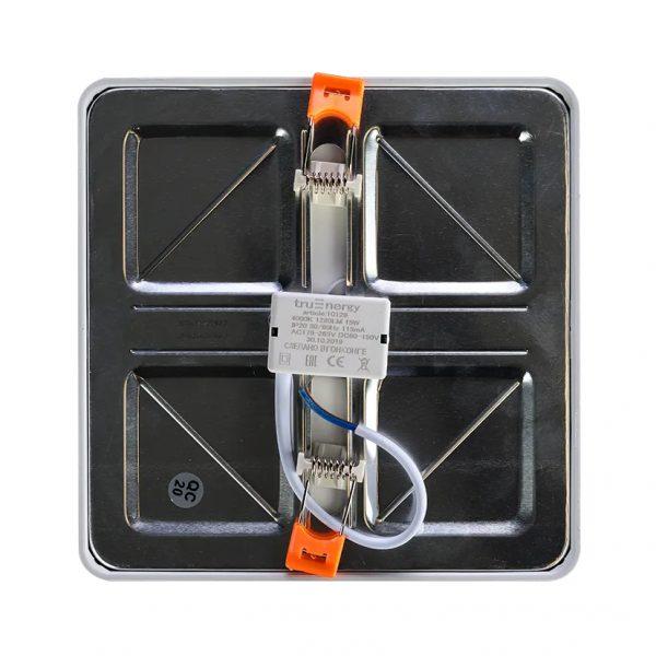 Светильники LED с регулируемым креплением квадратные встраиваемые серии Universal, 8-15Вт 2