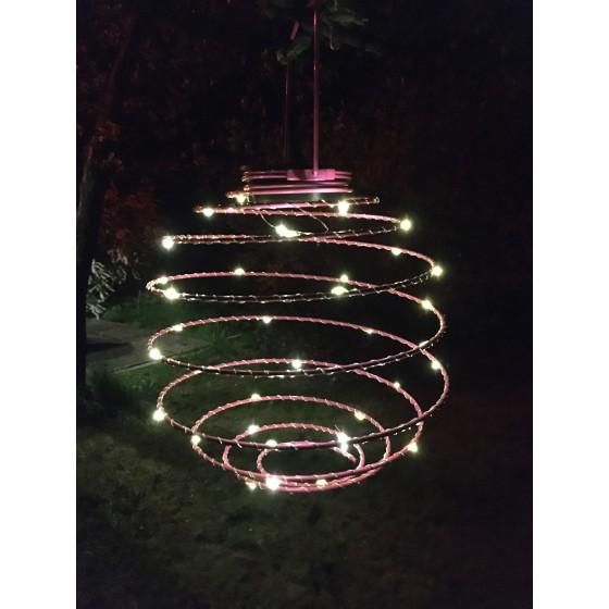 ERASF012-29 ЭРА Садовый подвесной светильник Спираль на солнечной батарее, 22 см 3