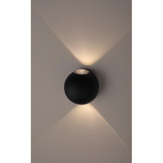 WL11 BK Подсветка ЭРА Декоративная подсветка светодиодная ЭРА 2*1Вт IP 54 черный 1