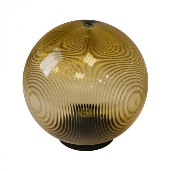НТУ 02-60-203 ЭРА Светильник садово-парковый шар золотистый призма D200mm Е27 1