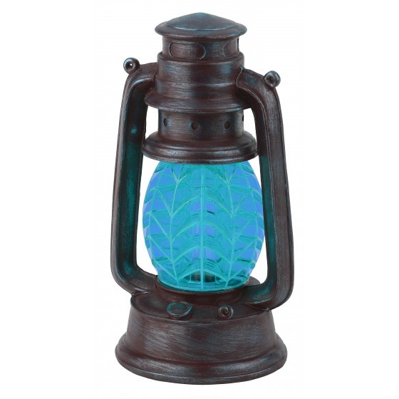 SL-RSN23-LANT-BU ЭРА Садовый светильник на солнечной батарее, полистоун, пластик, синий, 21,3 см 1