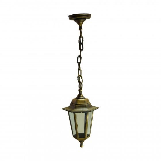 НСУ 06-60-001 бронза ЭРА Светильник садово-парковый Адель1 подвесной шестигранный под бронзу Е27 (8/ 1