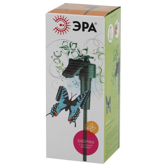 """SL-PL42-BTF ЭРА Садовый светильник на солнечной батарее """"Порхающая бабочка"""", пластик, цветной, 42 см 3"""