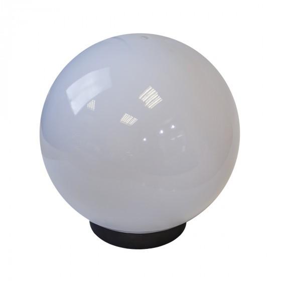 НТУ 02-60-201 ЭРА Светильник садово-парковый шар белый призма D200mm Е27 1
