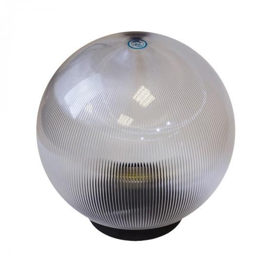 НТУ 02-100-302 ЭРА Светильник садово-парковый шар прозрачный призма D300mm Е27 1