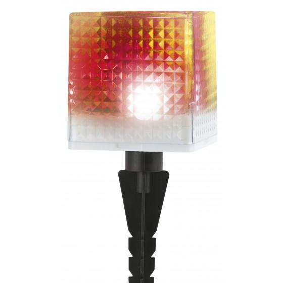 SL-PL20-СUB ЭРА Садовый светильник на солнечной батарее, пластик, прозрачный, черный, 20 см 1