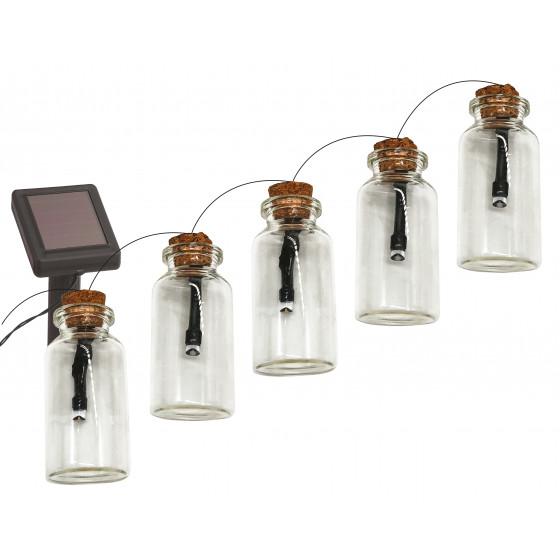 ERAGS08-05 ЭРА Садовая гирлянда 10 подсвечиваемых светодиодами бутылочек.Общая длина от солнечной п 1