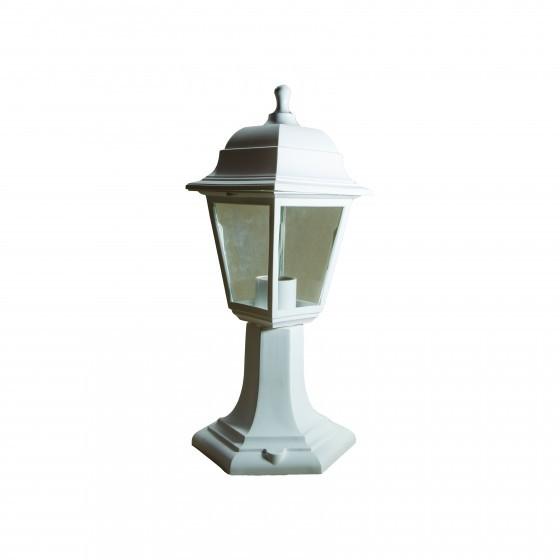 НТУ 04-60-001 белый ЭРА Светильник садово-парковый Оскар напольный четырехгранный белый Е27 1