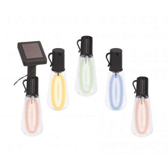 ERAGS012-04 ЭРА Садовая гирлянда 10 подсвечиваемых светодиодами лампочек.Общая длина от солнечной п 1