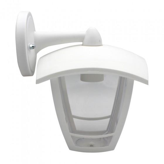 ЭРА Светильник садово-парковый 4гран белый настенный вниз E27 IP44(У1) НБУ 07-40-002 «Дели 2» 2