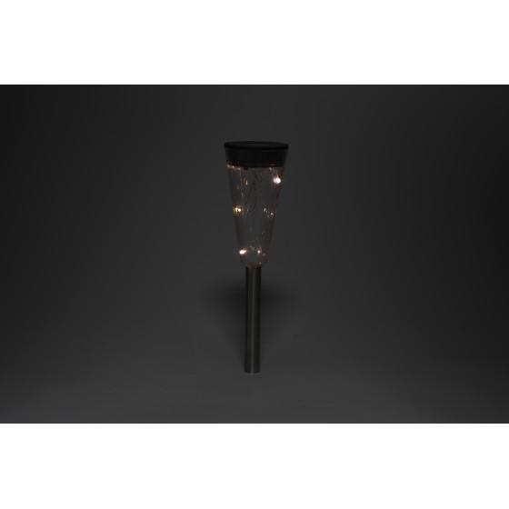 SL-SS35-GLOW-1 ЭРА Садовый светильник на солнечной батарее, сталь, пластик, прозрачный, черный, 35 с 2