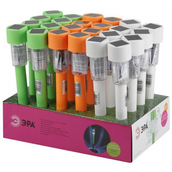 SL-PL30-CLR ЭРА Садовый светильник на солнечной батарее, пластик, цветной, 32 см 1