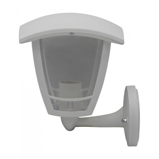ЭРА Светильник садово-парковый 4гран белый настенный вверх E27 IP44(У1) НБУ 07-40-001 «Дели» 1