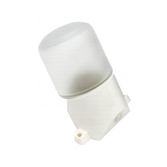 НББ 01-60-002 ЭРА Светильник для бани пласт/стекло, наклон IP65 E27 max 60Вт 158х116х85 БЕЛ 1