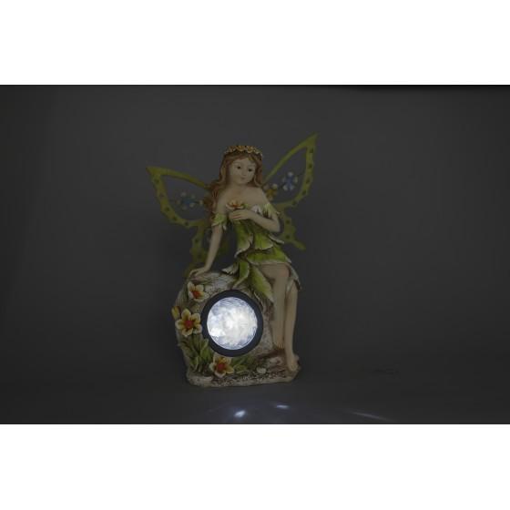 SL-RSN27-ELF ЭРА Садовый светильник на солнечной батарее, полистоун, цветной, 27 см 4