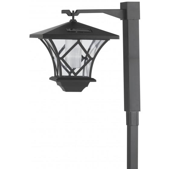 SL-PL155-PST ЭРА Садовый светильник на солнечной батарее, пластик, черный, 155 см 1
