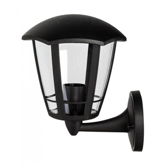 ЭРА Светильник садово-парковый 6гран черный настенный вверх E27 IP44(У1) НБУ 07-40-003 «Дели 1» 1