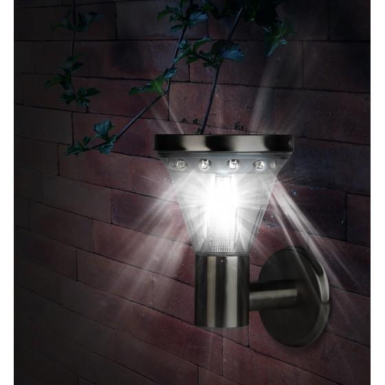 SL-SS23-FIX ЭРА Садовый светильник на солнечной батарее, сталь, стальной, 23 см 2