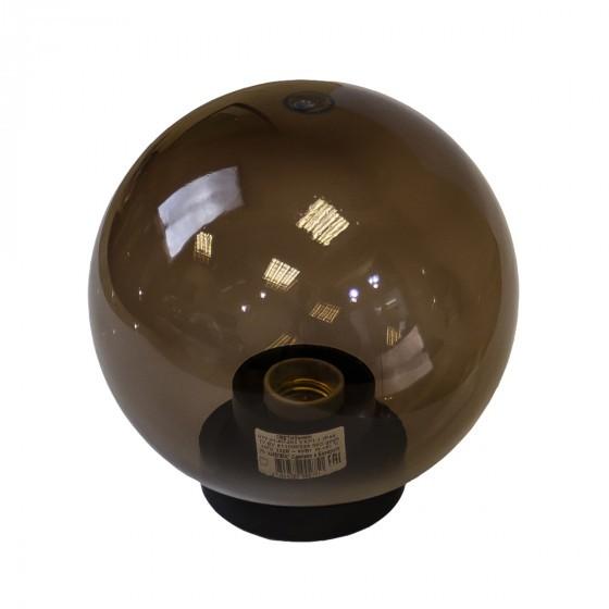 НТУ 01-100-355 ЭРА Светильник садово-парковый шар дымчатый D350mm Е27 1