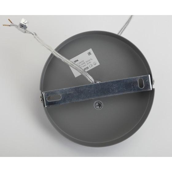 PL3 GR/SN Подвес ЭРА металл, E27, max 60W, d245 мм, шагрень серый/сатин никель 4