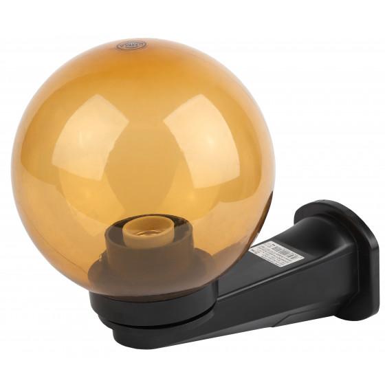 НБУ 01-60-203 ЭРА Светильник садово-парковый шар золотистый с настенным крепежом D200mm Е27 1